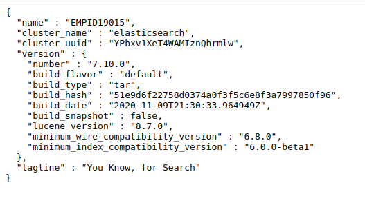 Elasticsearch connect output
