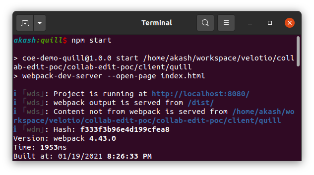 Run Webpack Server