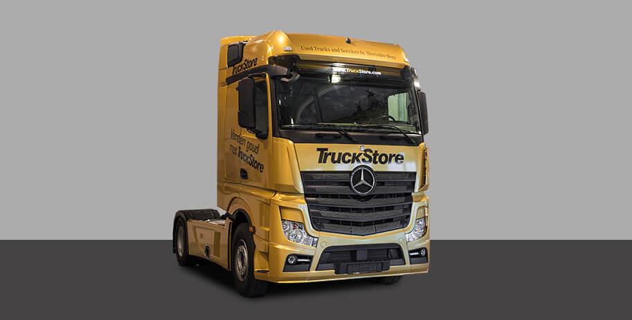 Truckstore bestickering autoreclame