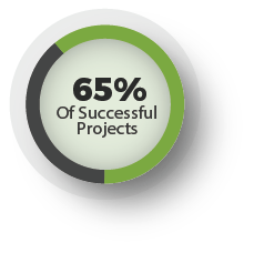 65% of successful projects Attribute their success to proper staffing &a healthy mix of systems integrators and independent consultants