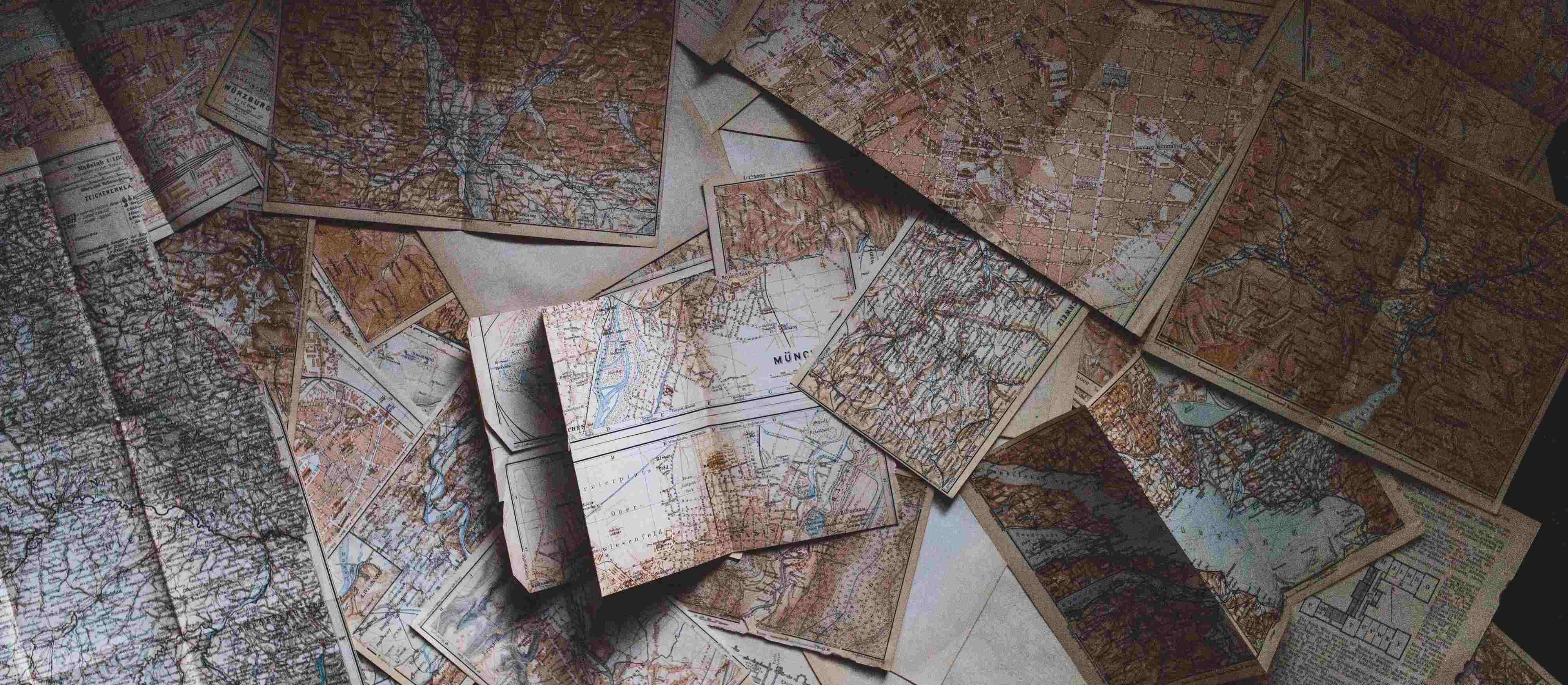 maps on desk