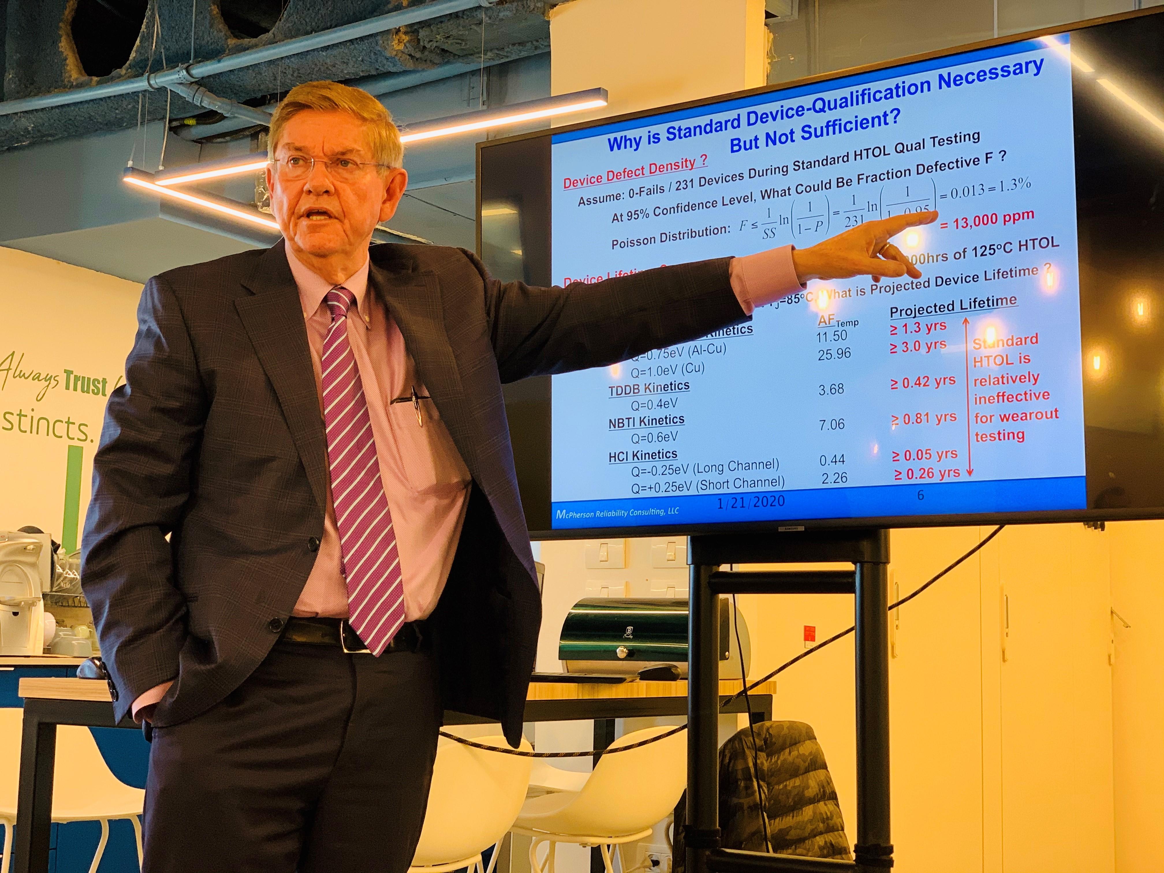 Dr. Joe McPherson at proteanTecs