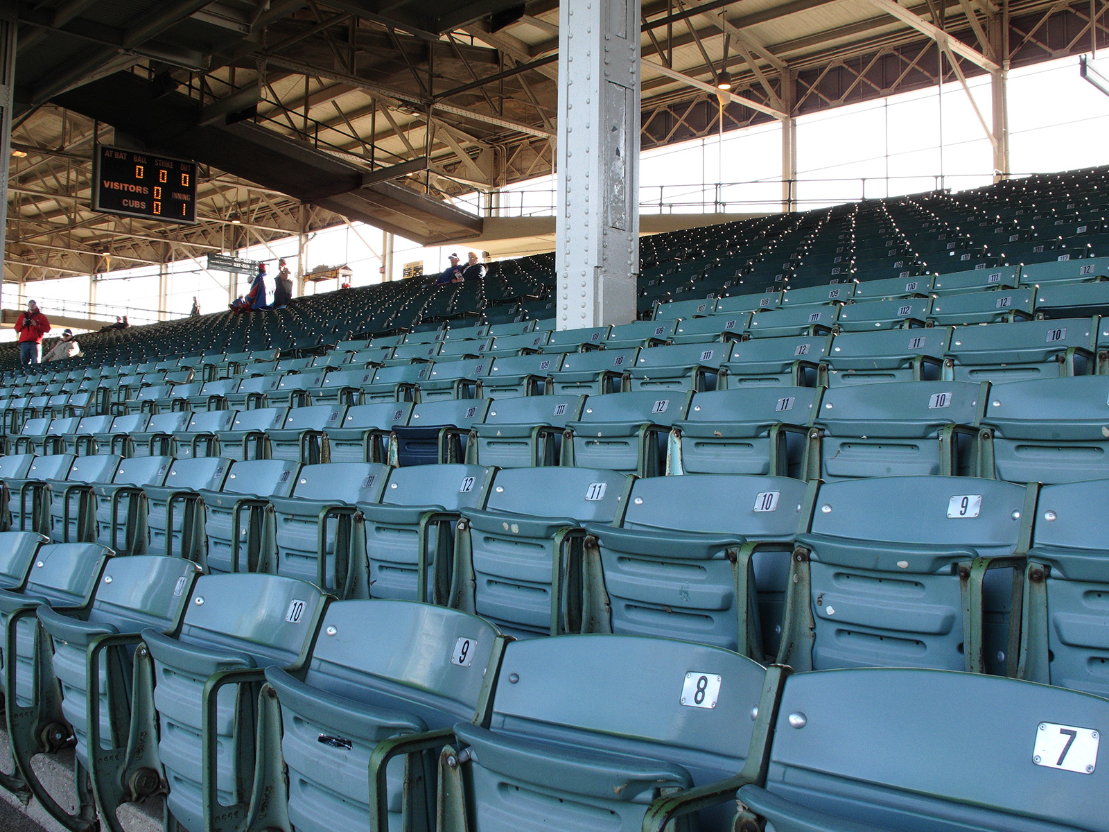 Picture of the stands at Wrigley Field.