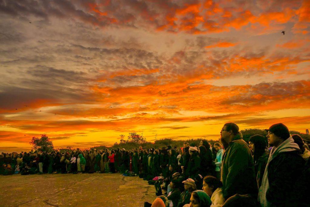 Alcatraz Indigenous People's Day Sunrise Ceremony. Photograph. © 2017.
