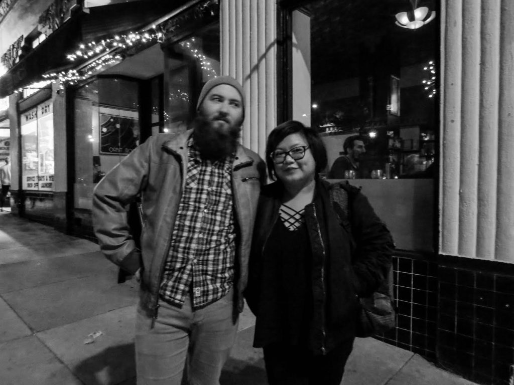 Tyler Pugliese and Edna Cao at The Little Hollywood Launderette and Orbit Room. Photograph. © 2017