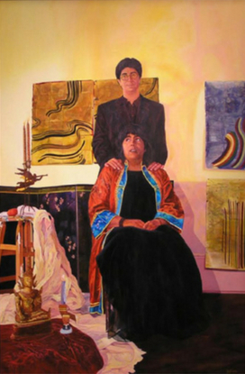 Before the Wedding. Acrylic on canvas. (Kim Anno and Ellen Meyers). © 2000.