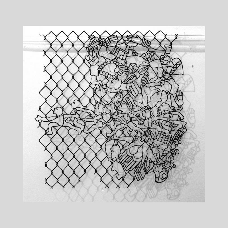 La Venganza de Los Milagros, Handcut paper, 2017