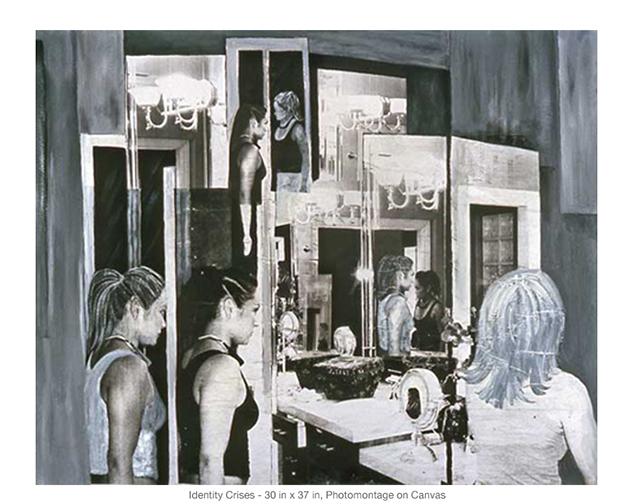 "Identity Crises, Photomontage on Canvas, 30""x37"""