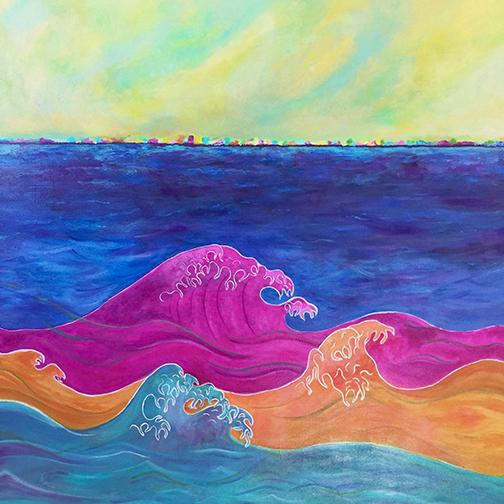 """Color Me Rainbow, Acrylic on Canvas, 36""""x36"""""""