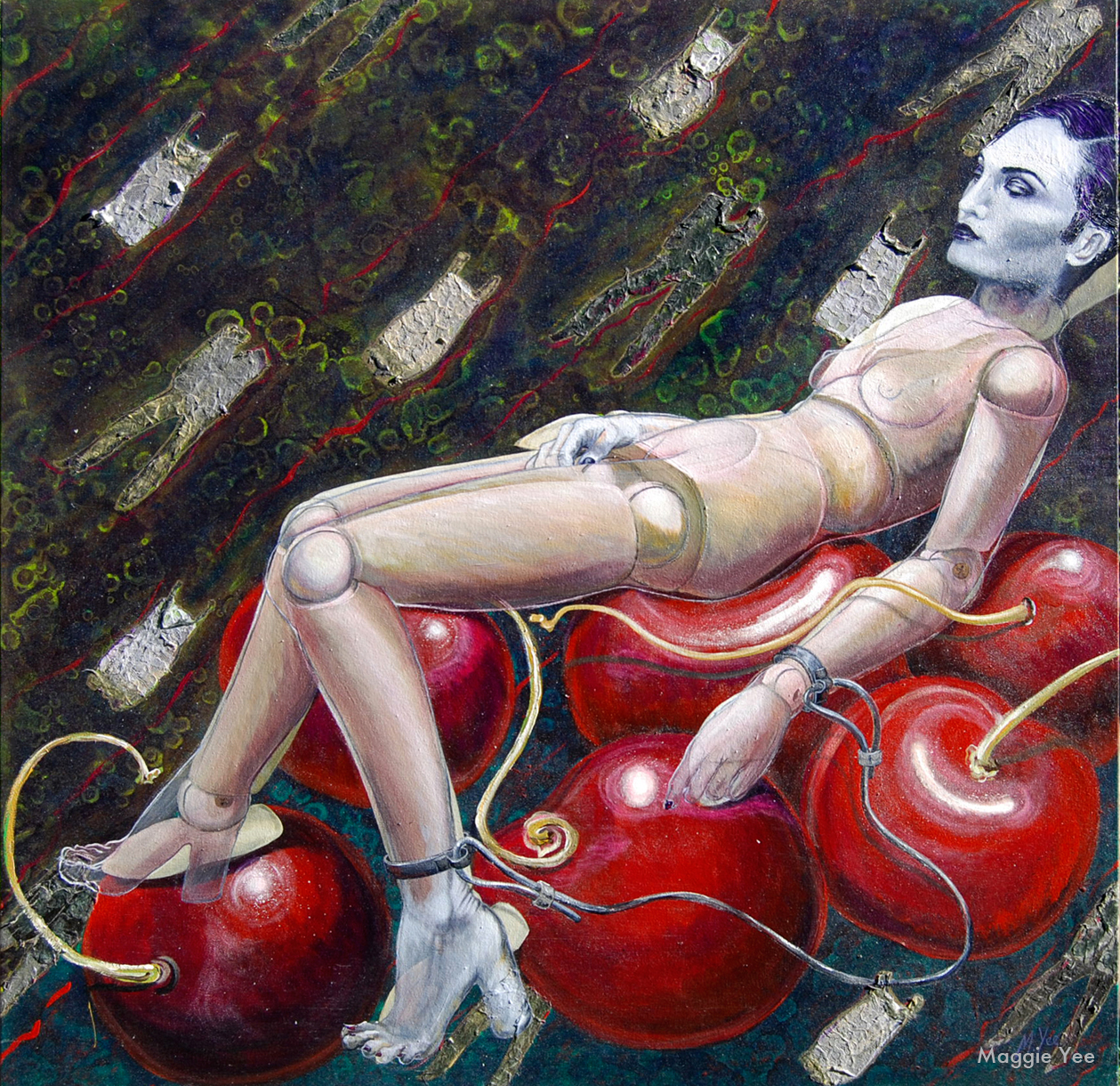 The Virgin Rest on Her Bruised Cherries Pondering Fashion