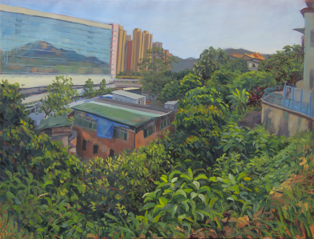 "Behind the Mall, 30""x40"", Oil on Linen, 2013"