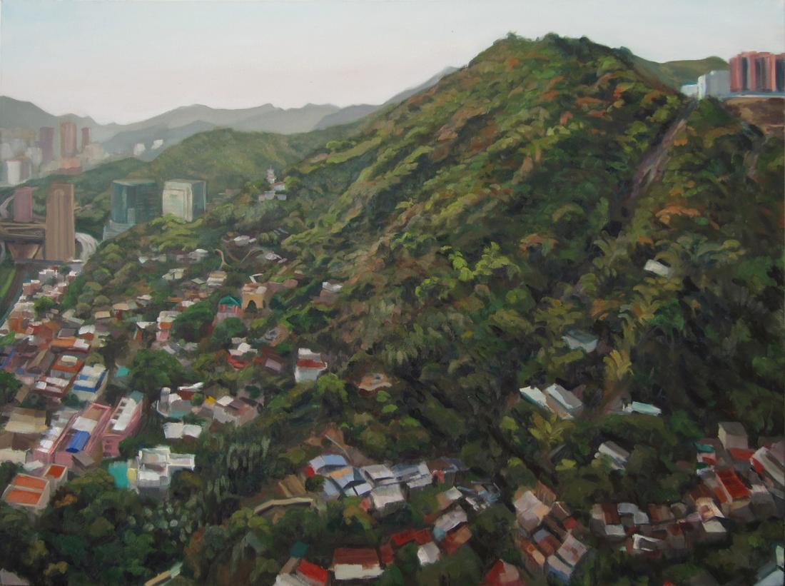 """Shatin I, 30""""x40"""", Oil on Canvas, 2012"""