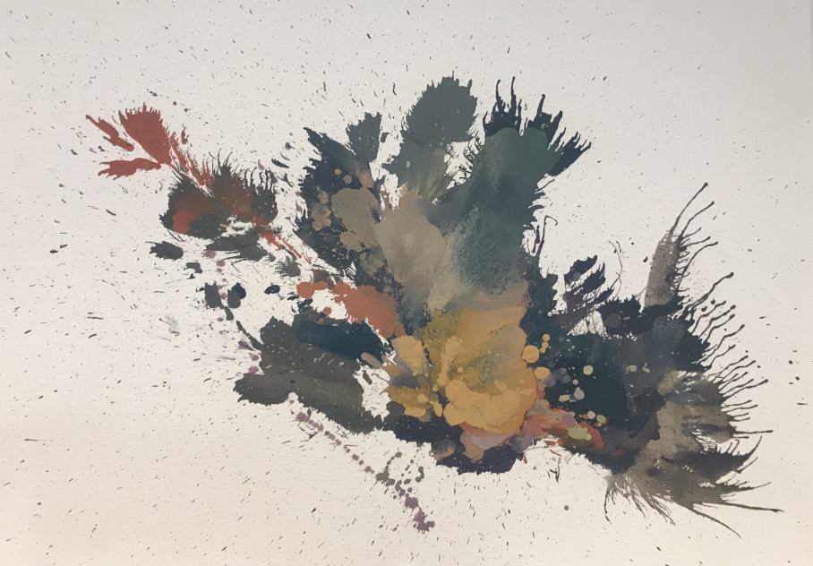 """Compressed Composition on Paper - 16"""" x 12"""""""