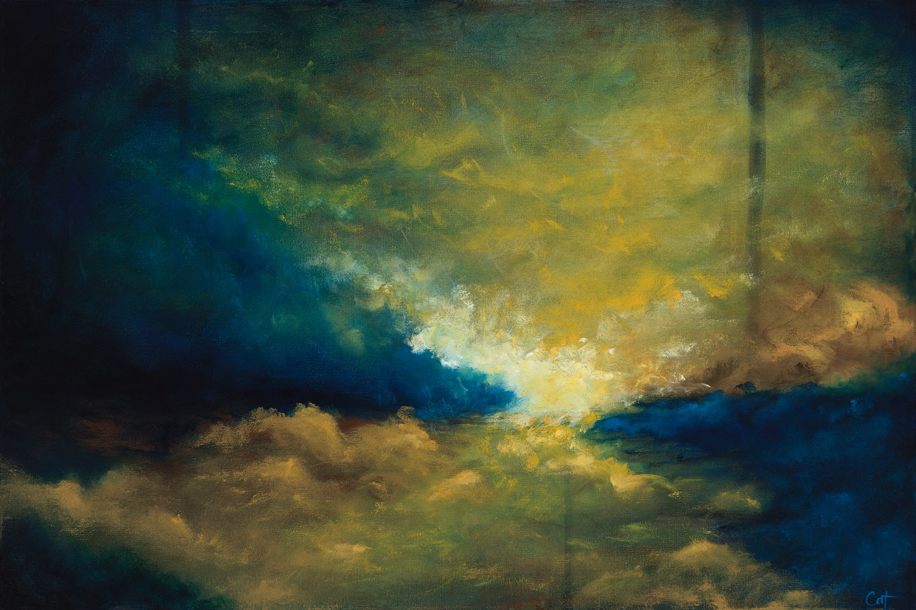 """First Light on stretched canvas- 36"""" x 24"""" x 1.5"""""""
