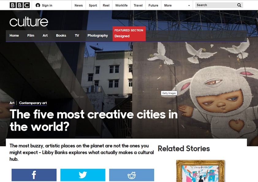 BBC - The five most creative cities in the world?