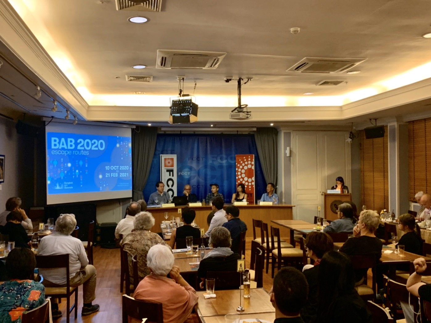 "Panel Discussion ""Thai Contemporary Art: Surging Ahead or Treading Water?"" at Foreign Correspondents' Club of Thailand (FCCT)"