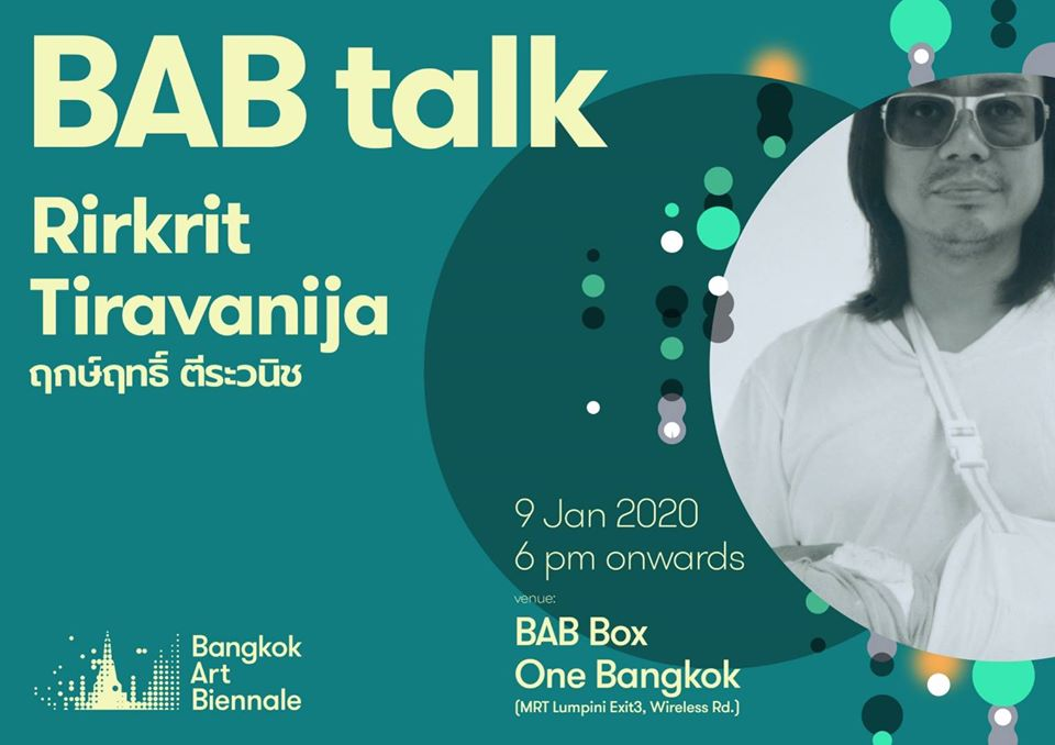 BAB TALK #25 with Rirkrit Tiravanija