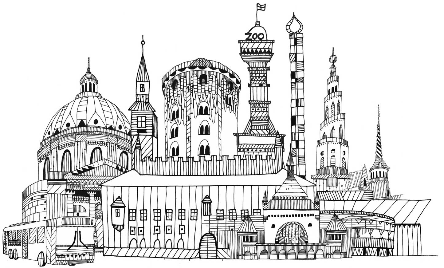 Illustration af København