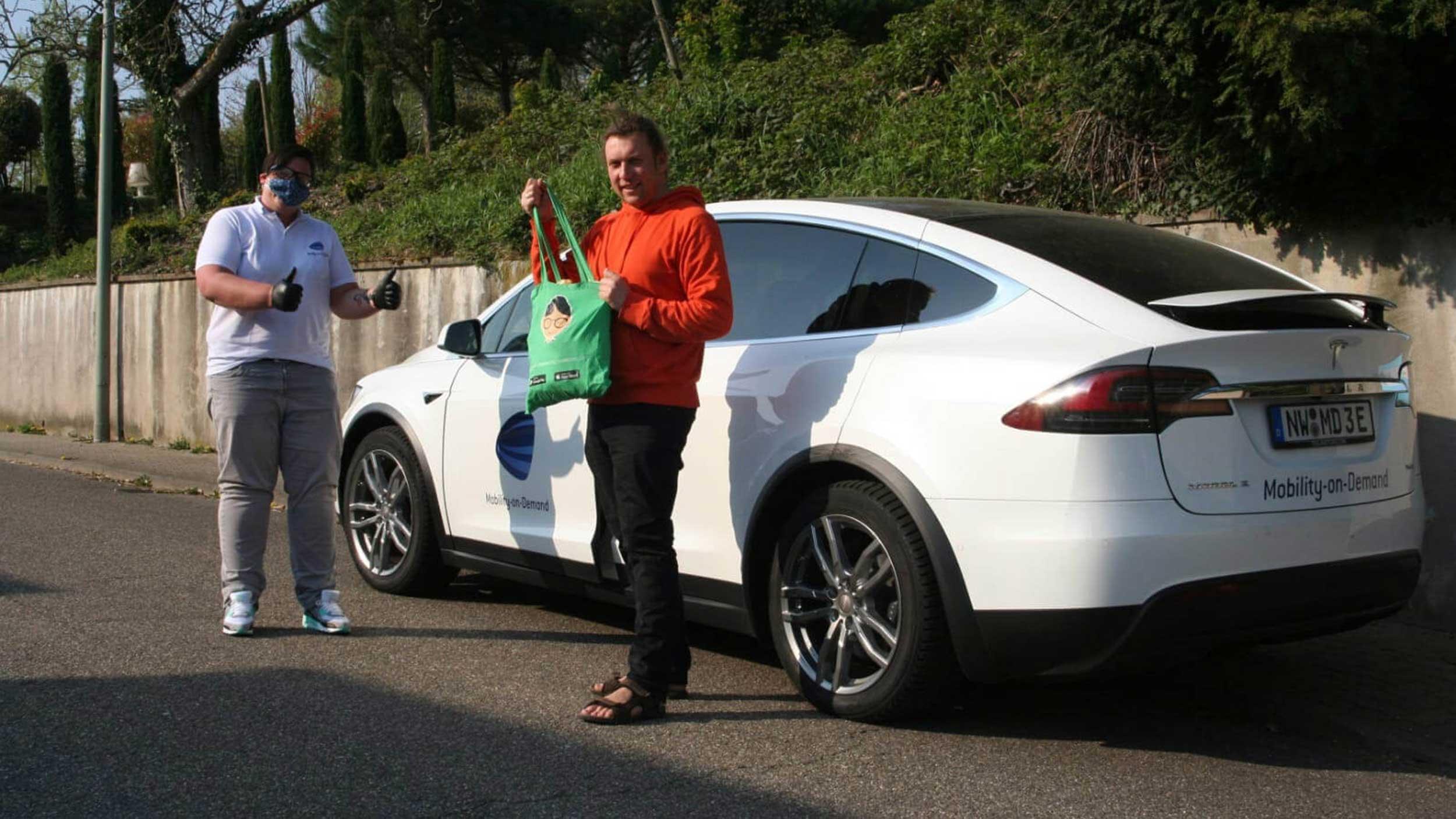 Innovation in der Corona-Krise: Brötchen mit Elektromobilität nach Hause geliefert