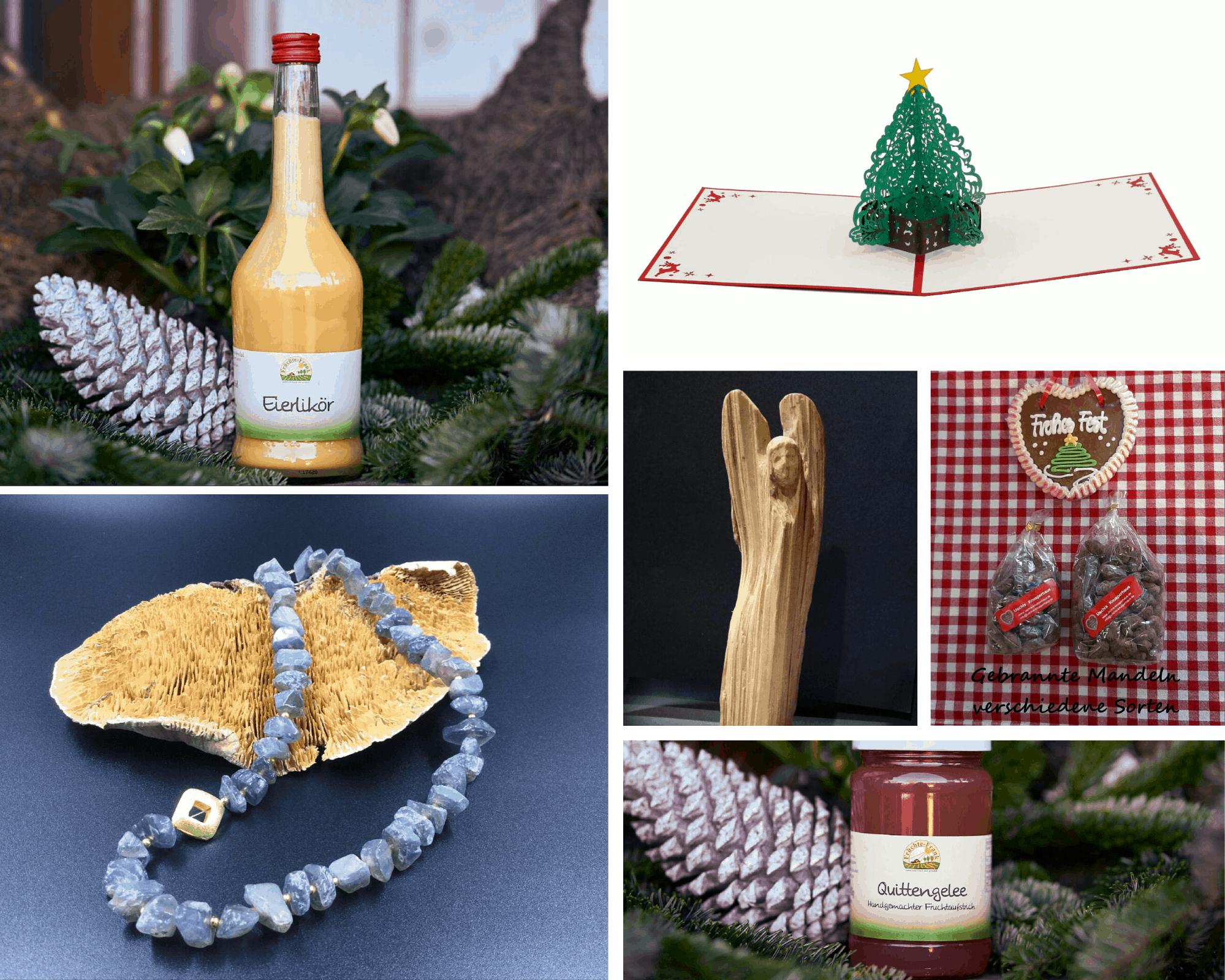 Collage Weihnachtsmarkthändler