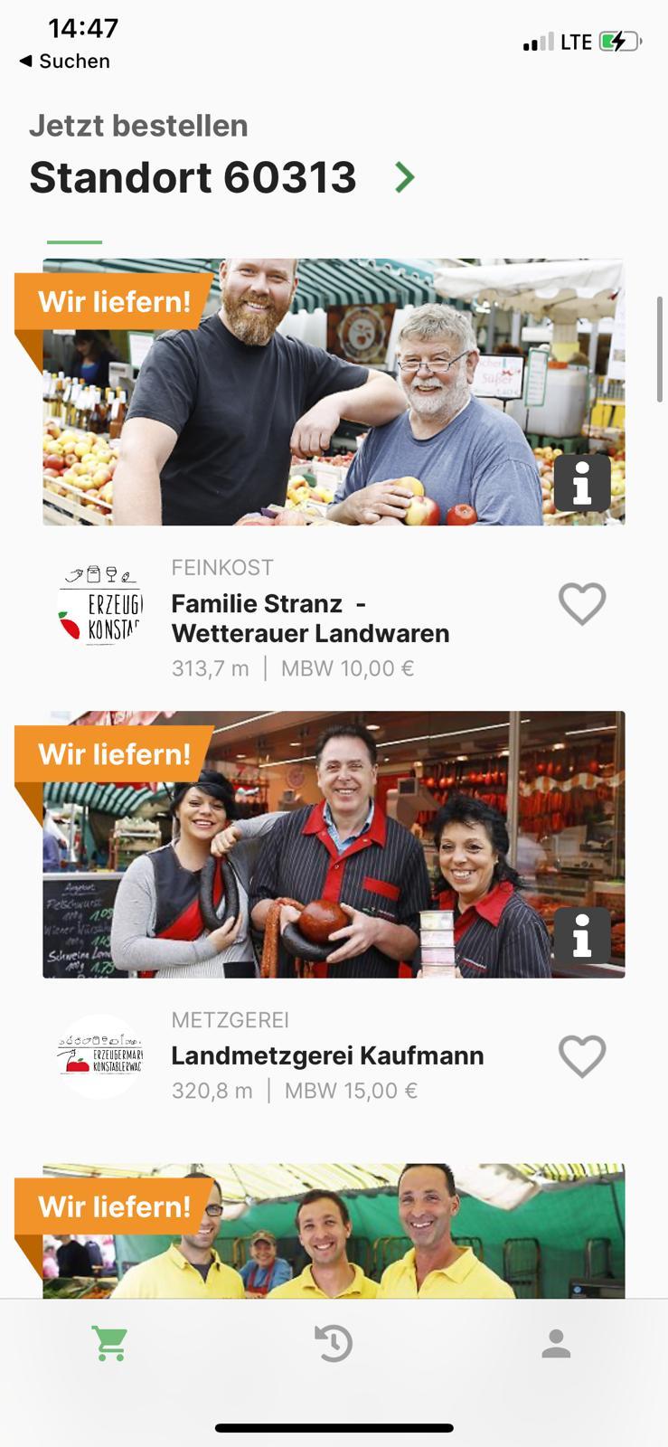 Marktfee.app Screenshot