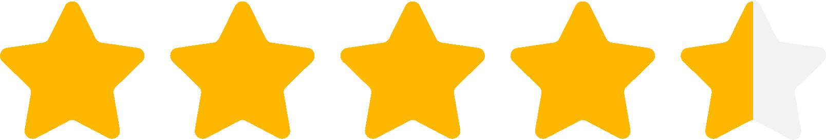 Kundbetyg, 4.8 stjärnor av 5.