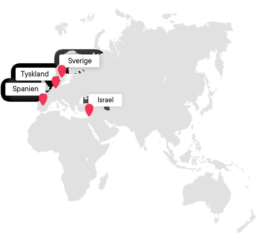 Karta på Europa var TechBuddy finns.