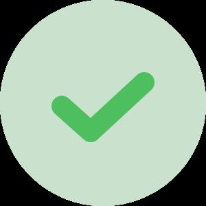 Grön check ikon