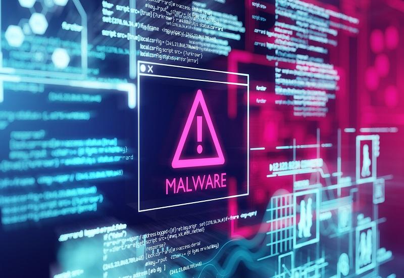 Virus på en dator.
