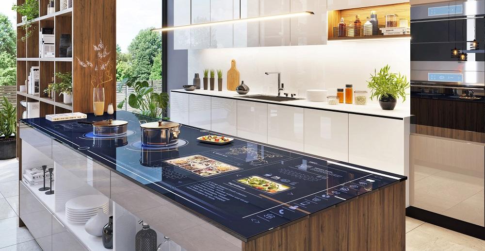 Smart kök i ett smart hem stor bild