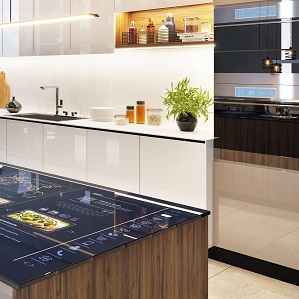 Smart kök i ett smart hem liten bild