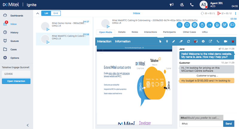 Mitel solutions partner live chat