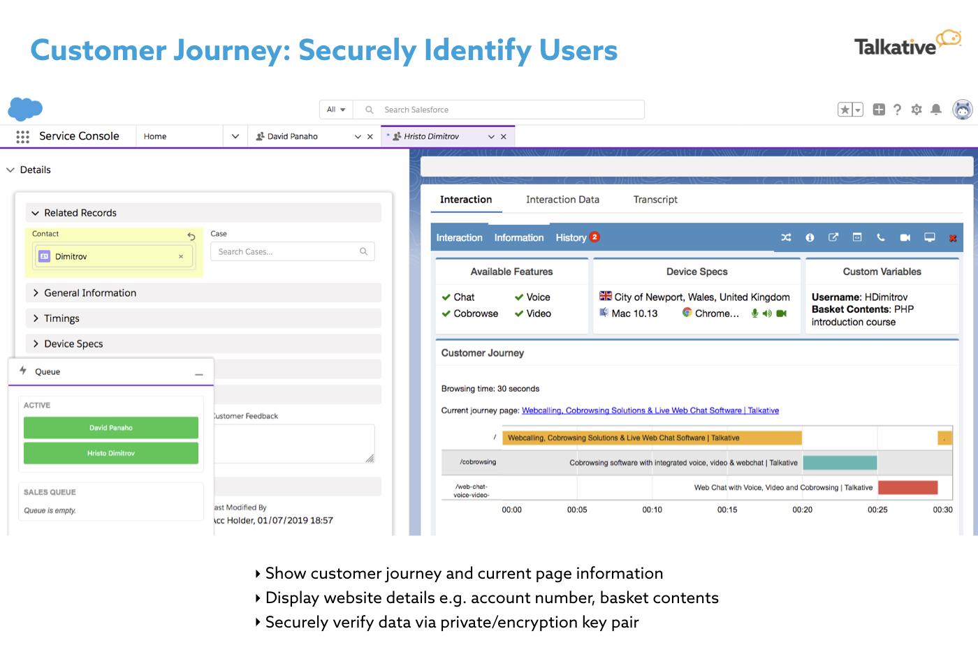 Customer journey tracking dashboard