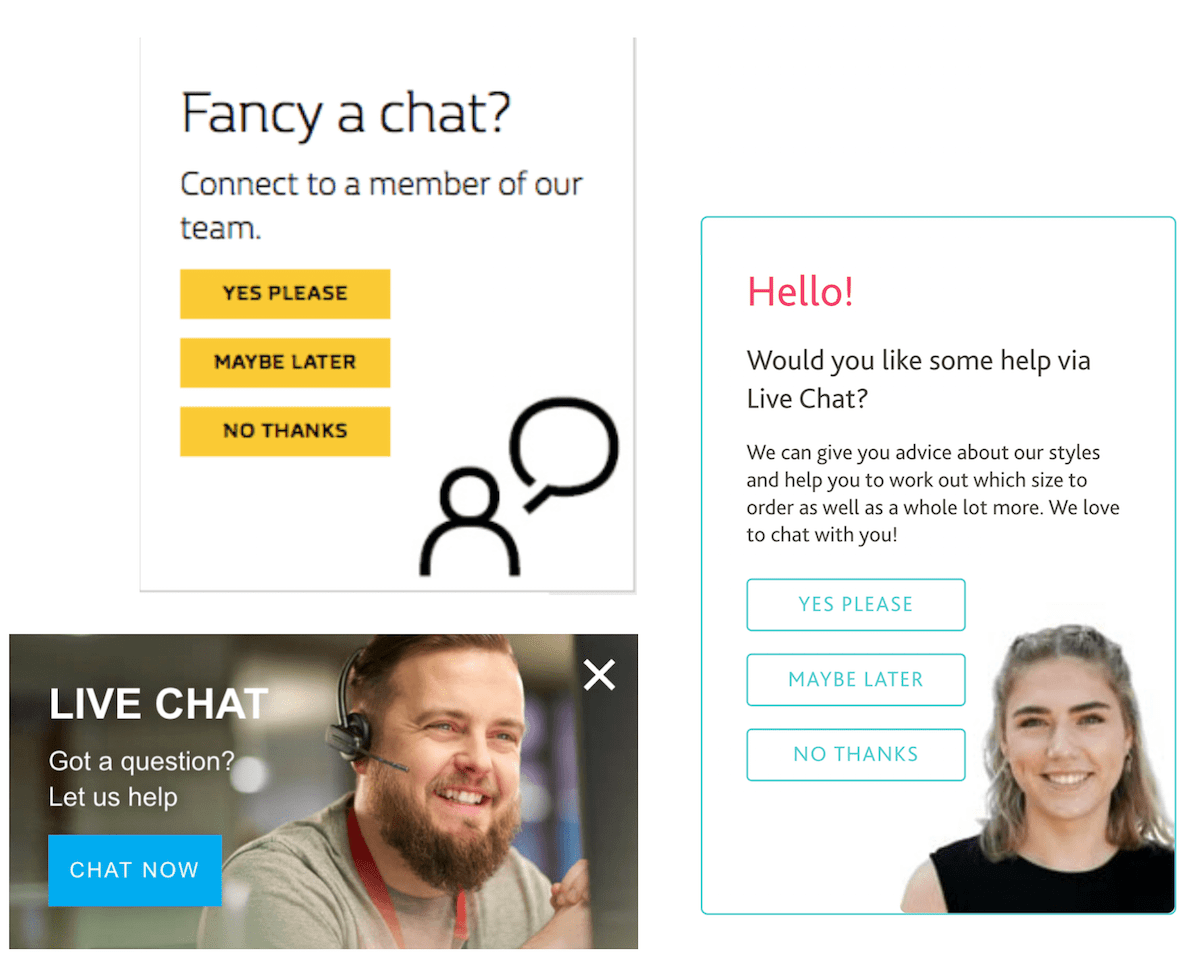 Live chat widgets