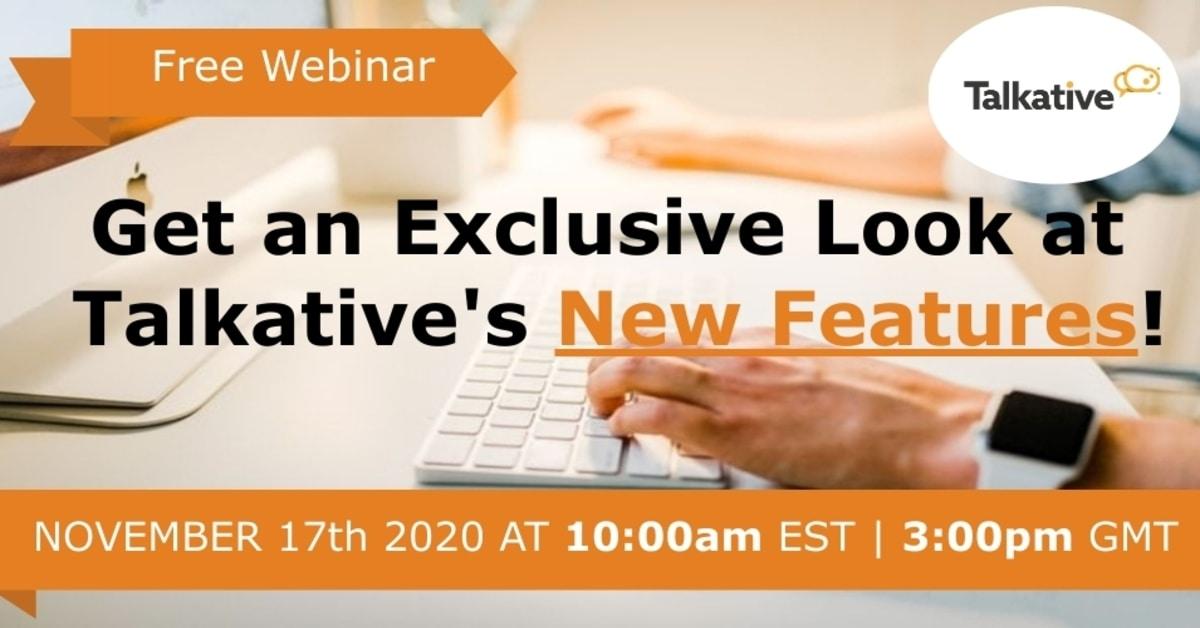 Talkative New Features Webinar