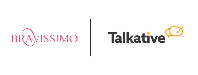 Bravissimo and Talkative logo