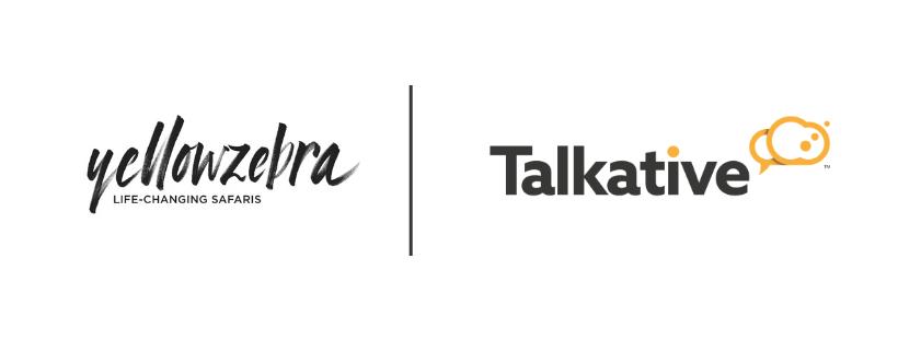 Yellow Zebra and Talkative logos