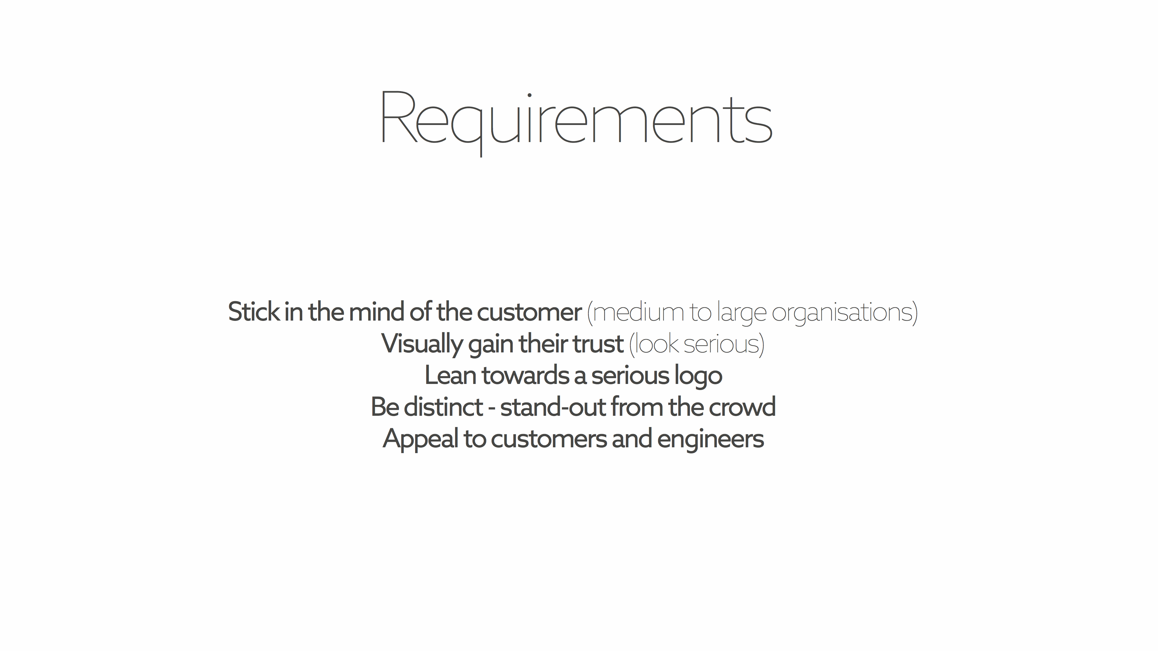 Requirements slide
