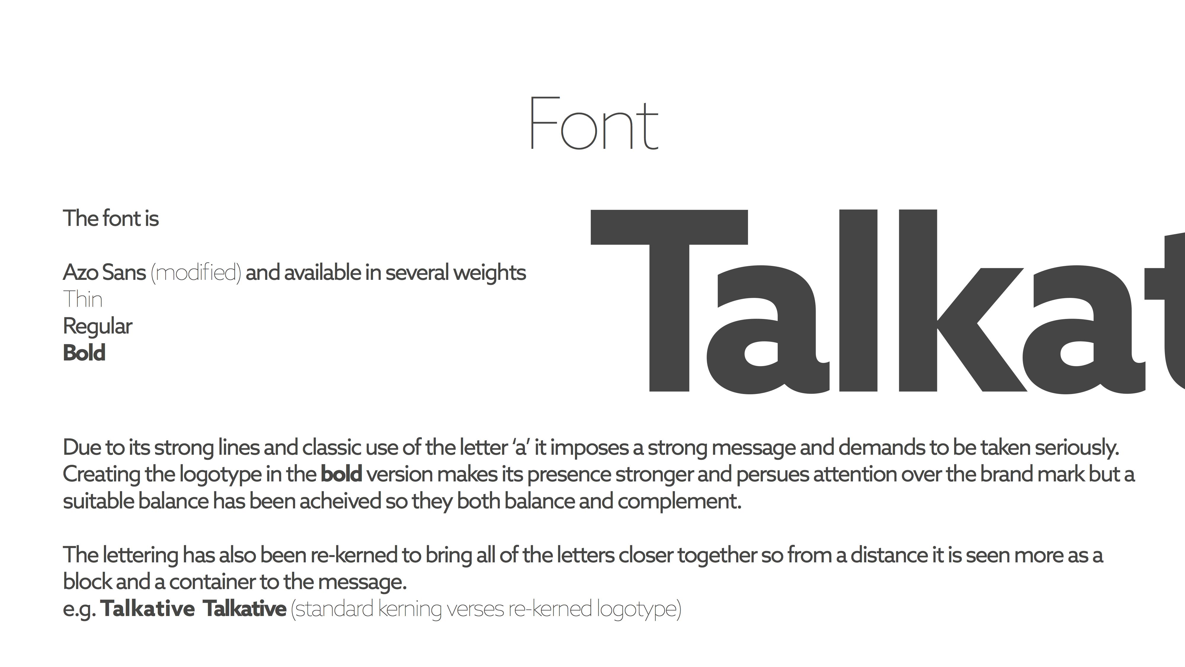 Talkative font