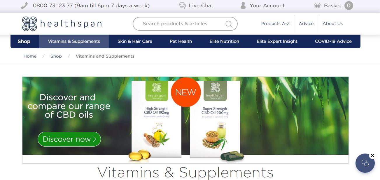 Healthspan screenshot