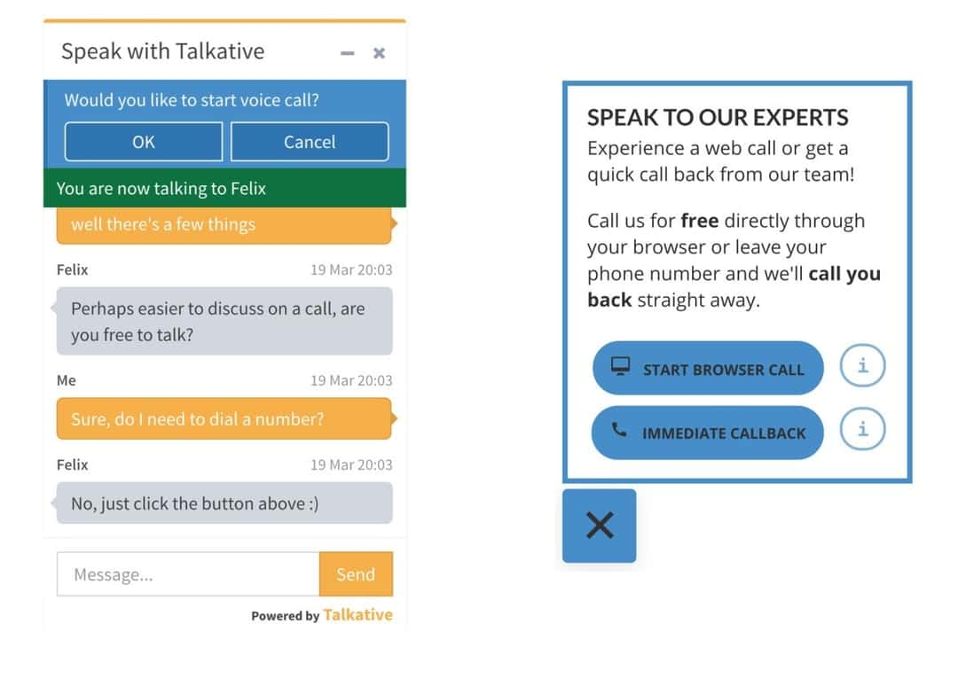 talkative chat widgets education embedded customizable UI