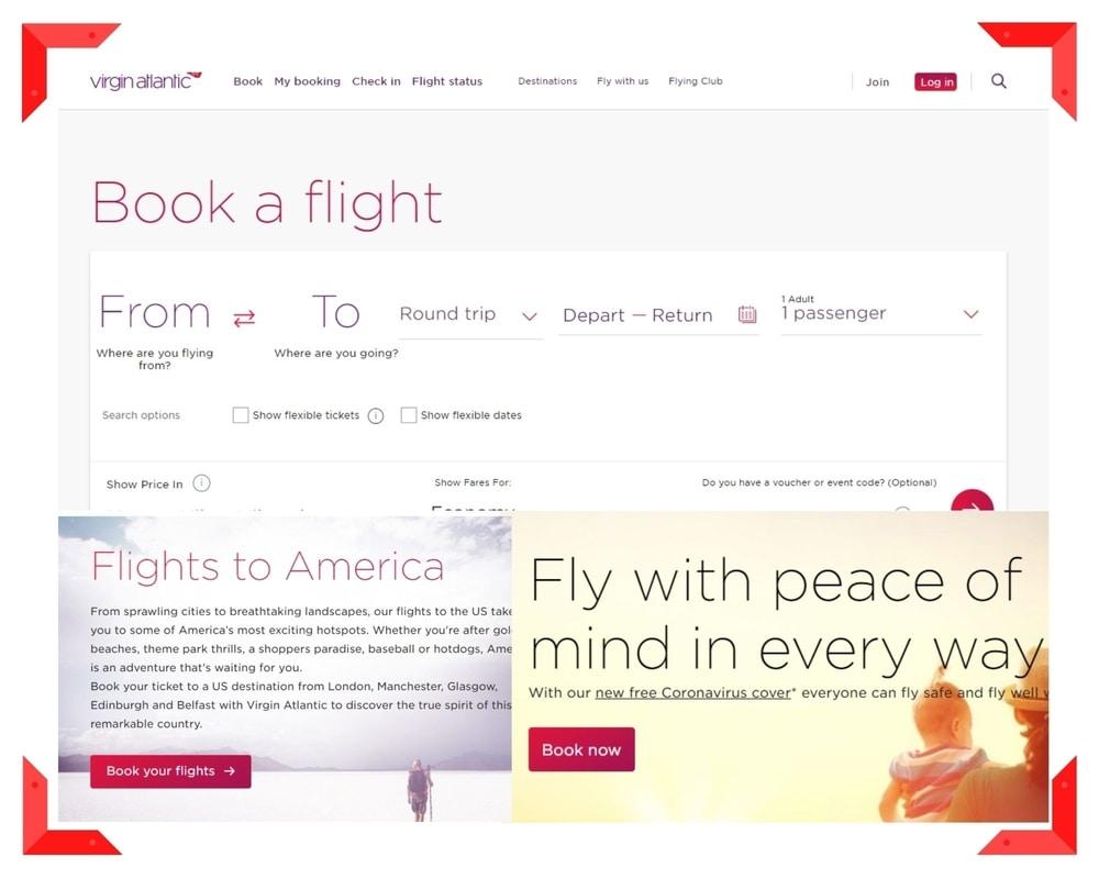 Virgin Atlantic UX