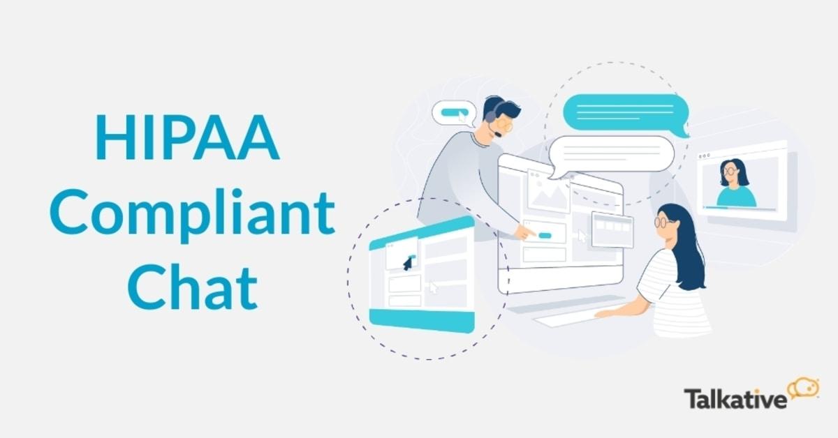 Customer using HIPAA compliant live chat