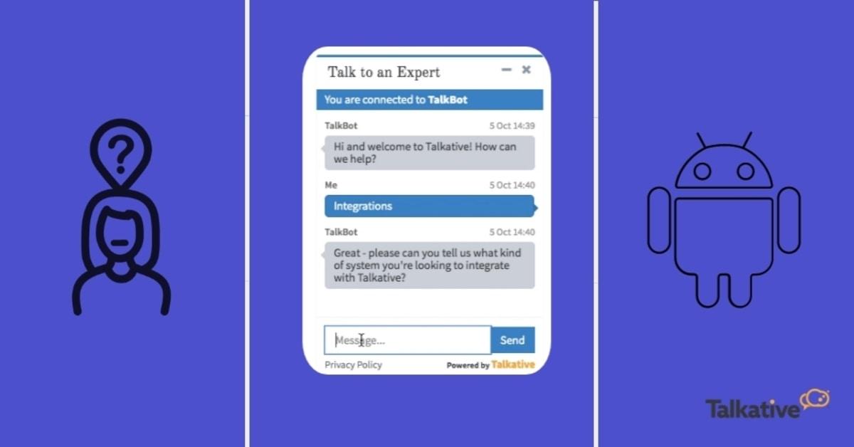 Virtual agent chatting to customer