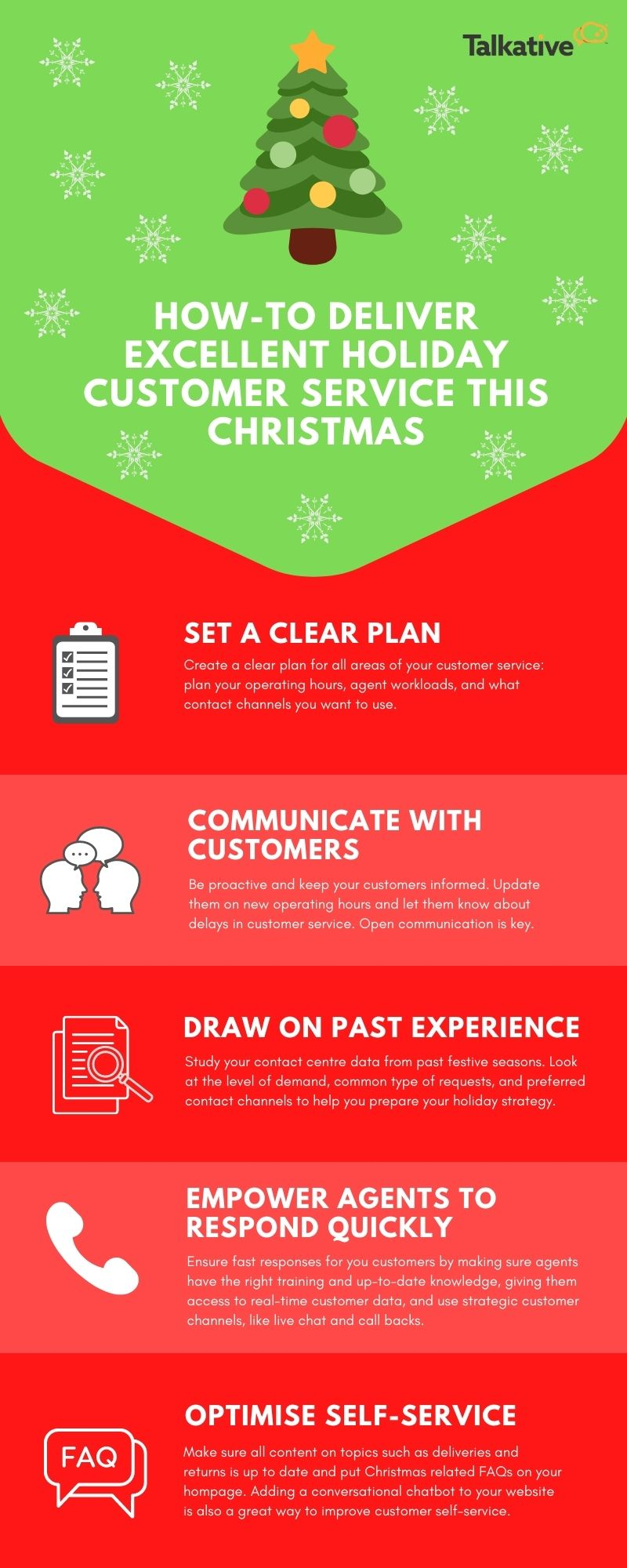 Infographic: Holiday customer service