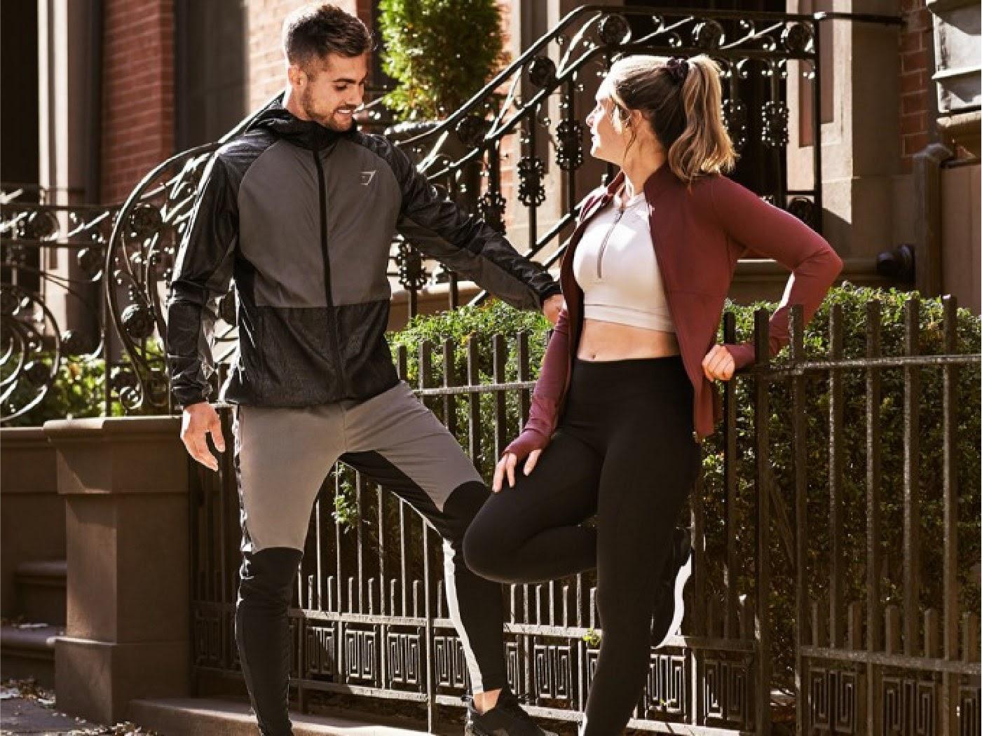 People wearing gym shark clothing