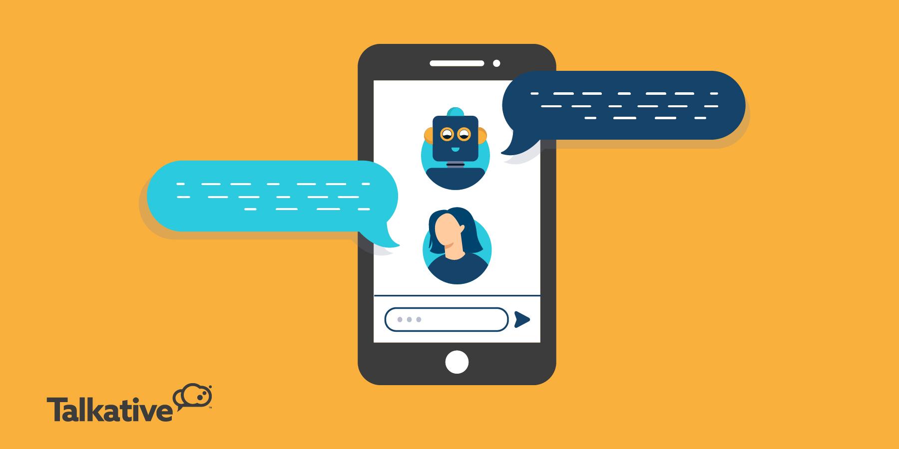 Chatbot talking to customer