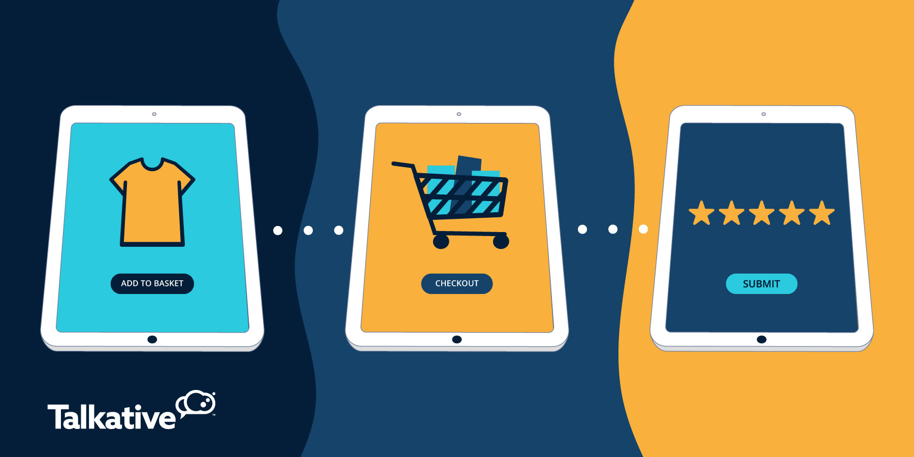 Seamless shopping journey on tablet
