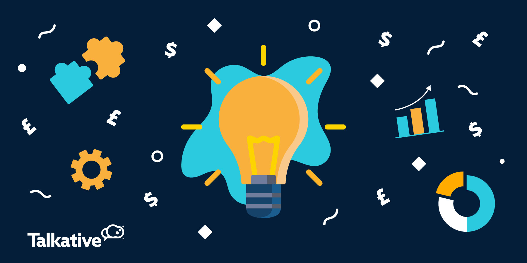 Lightbulb moment surrounded by digital customer experience icons