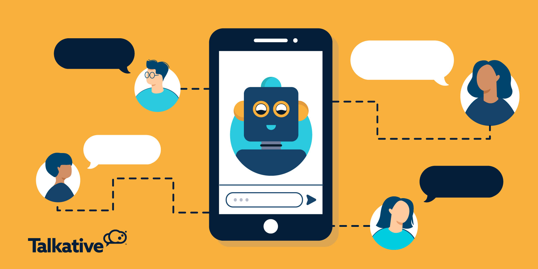 Customer service chatbot talking to customers